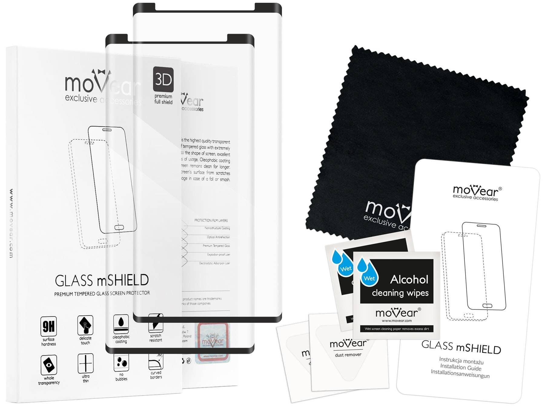 2 szt. | moVear Szkło Hartowane 3D cf na Samsung Galaxy Note 9 | do etui, 9H | GLASS mSHIELD Czarny