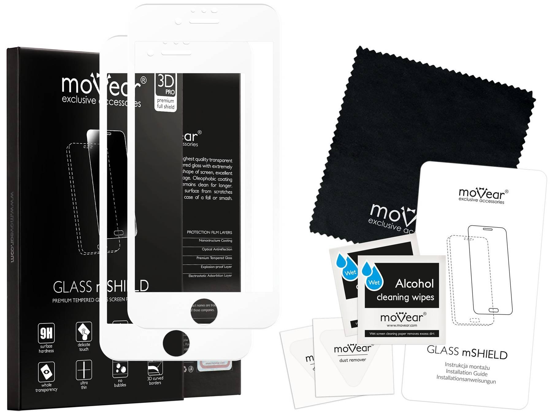 2 szt. | moVear Matowe Szkło Hartowane 3D PRO MATT na Apple iPhone 8 Plus / 7 Plus | na Cały Ekran, Antyrefleksyjne, 9H | GLASS mSHIELD Biały