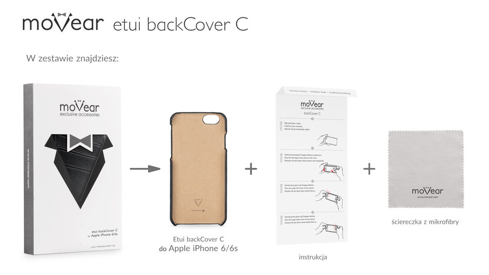 moVear black backCover C for iPhone 6