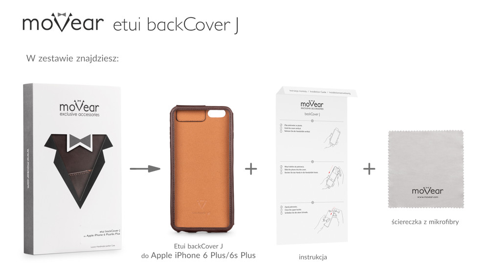 moVear brown backCover J for iPhone 6 Plus
