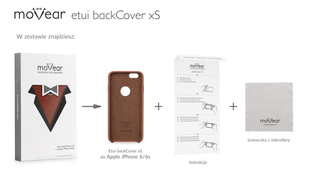 moVear brown backCover xS for iPhone 6