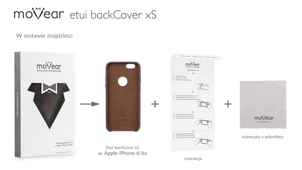 moVear dark brown backCover xS for iPhone 6