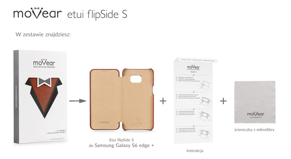 moVear brown case flipSide S for Samsung Galaxy S6 edge+