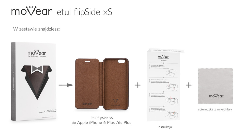 moVear brown flipSide xS for iPhone 6 Plus