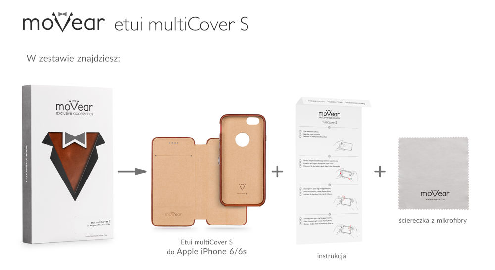 moVear brown vintage multiCover S for iPhone 6