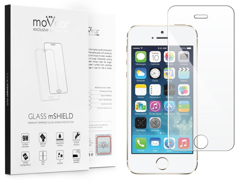 GLASS mSHIELD 2.5D Szkło Hartowane do Apple iPhone 5 5s SE