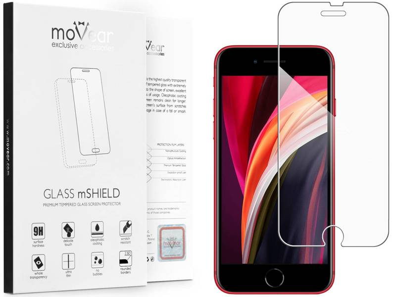 GLASS mSHIELD 2.5D Szkło Hartowane do Apple iPhone 8 / 7 - caseFriendly