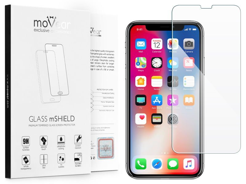 GLASS mSHIELD 2.5D Szkło Hartowane do Apple iPhone X / Xs - caseFriendly MAX