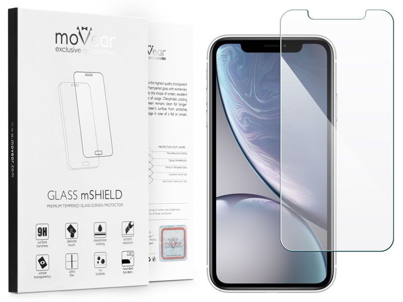 GLASS mSHIELD 2.5D Szkło Hartowane do Apple iPhone Xr - selfieEdition