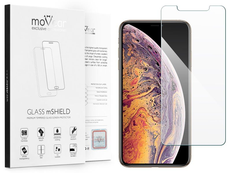 "moVear Szkło Hartowane 9H Apple iPhone Xs MAX (6.5"") 