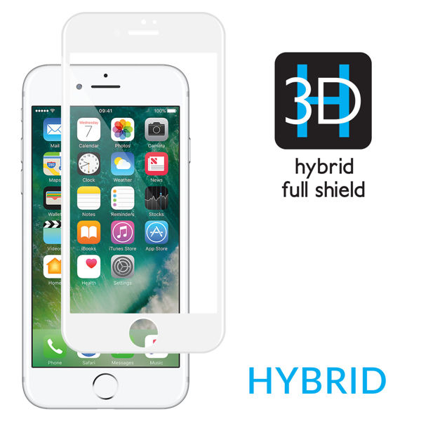 GLASS mSHIELD 3D HYBRID do Apple iPhone 7 | Cały Ekran