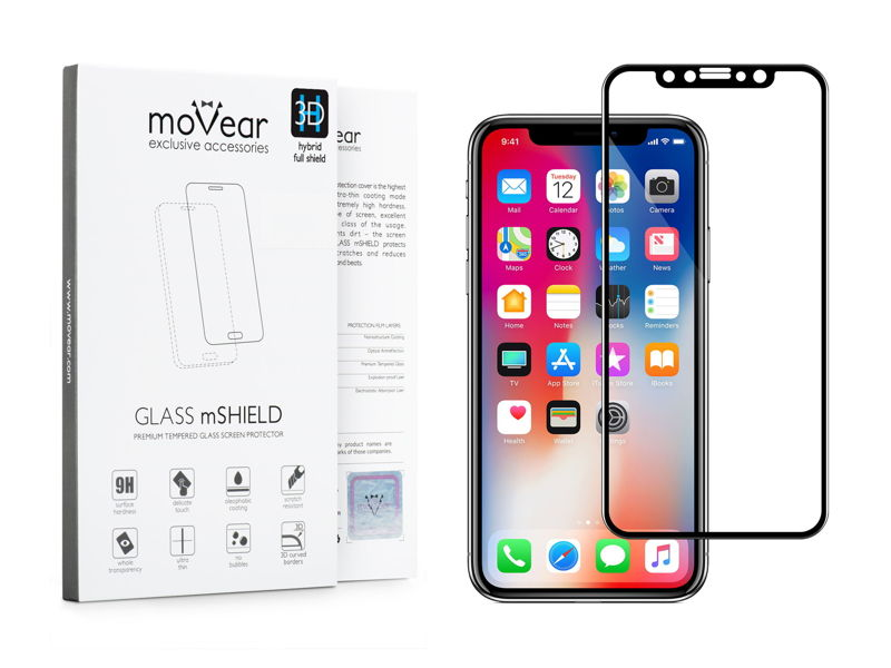 GLASS mSHIELD 3D HYBRID do Apple iPhone X | Cały Ekran