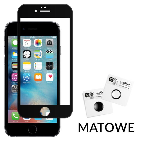 GLASS mSHIELD 3D PRO MATT Szkło Hartowane do Apple iPhone 6 Plus / 6s Plus - MATOWE | Cały Ekran