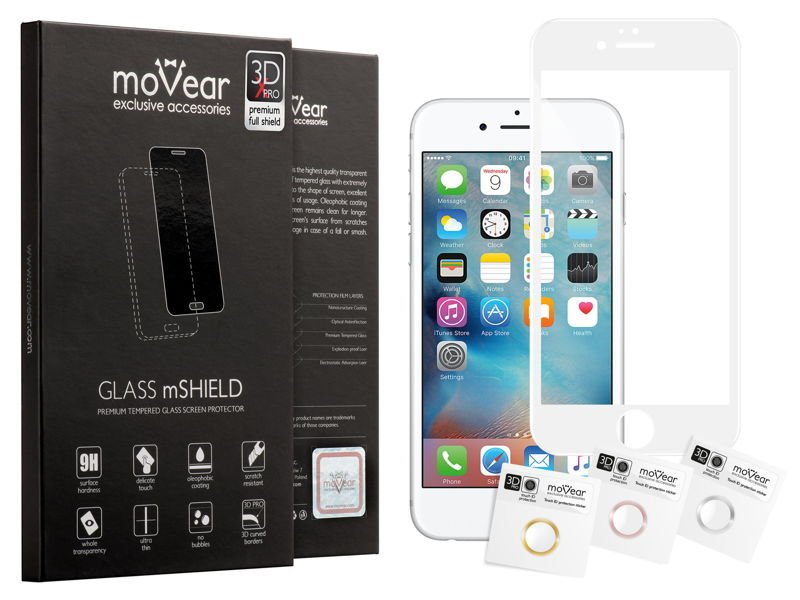 GLASS mSHIELD 3D X-PRO Szkło Hartowane do Apple iPhone 6 Plus / 6s Plus | Cały Ekran