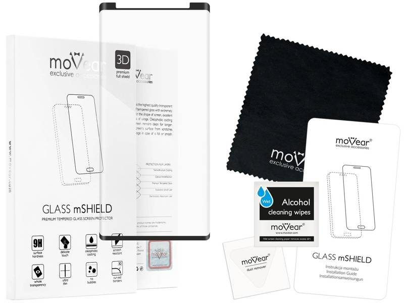 GLASS mSHIELD 3D cf Szkło Hartowane do Samsung Galaxy Note 9 - case friendly