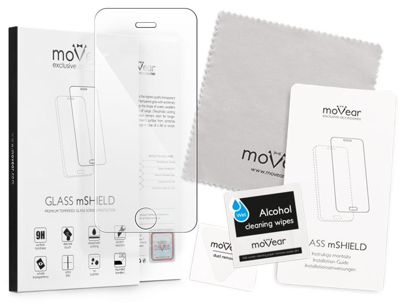 moVear GLASS mSHIELD 2.5D na Apple iPhone SE / 5s / 5 | Szkło Hartowane do etui, 9H