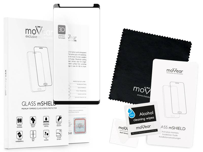 moVear GLASS mSHIELD 3D cf na Samsung Galaxy Note 8 | Szkło Hartowane do etui, 9H