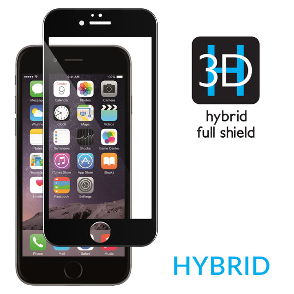 moVear Szkło Hartowane 3D do Apple iPhone 6/6s Plus | GLASS mSHIELD 3D HYBRID | na Cały Ekran