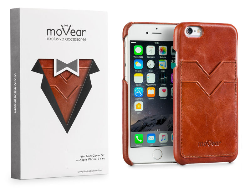 moVear backCover S+ Skórzane Etui Plecki do Apple iPhone 6 / 6s | Skóra Vintage | Brązowy