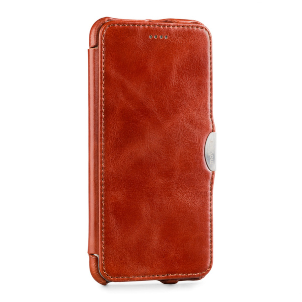 moVear flipSide C Skórzane Etui do Apple iPhone 6 Plus / 6s Plus | Skóra Vintage | Brązowy