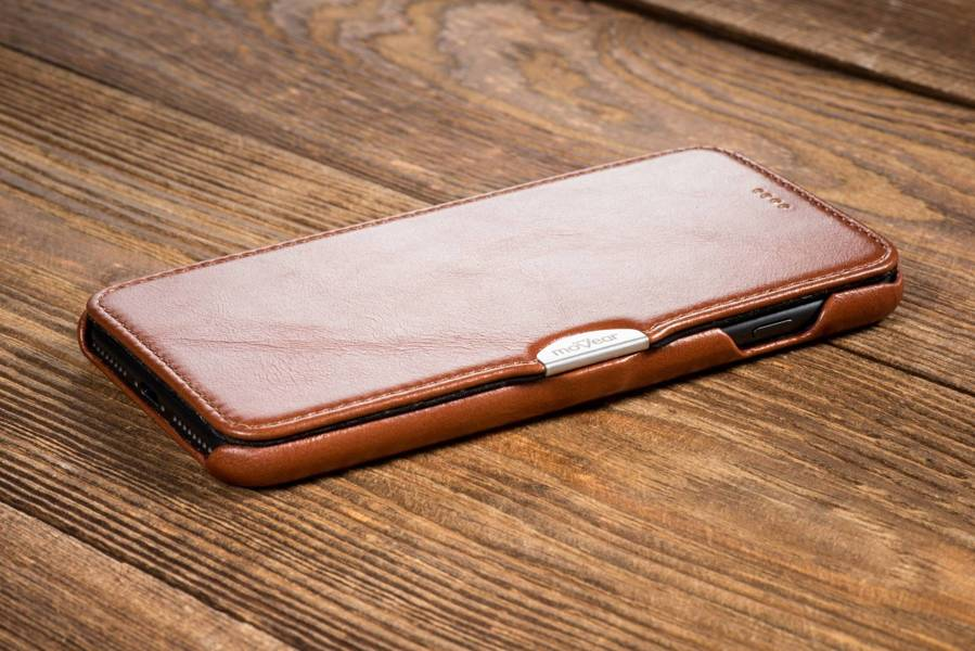 moVear flipSide C Skórzane Etui do Apple iPhone 8 Plus / 7 Plus | Skóra Vintage | Brązowy